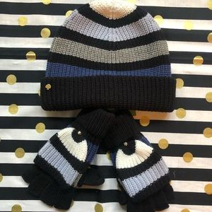 NWT kate spade new york Knit Hat and Mittens